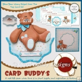 Blue Bear Wavy Edged Over The Top Card Kit