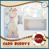 Cuddly Giraffe Shaped Fold Card Kit