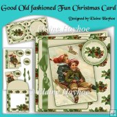 Good Old Fashioned Fun Christmas Card Kit