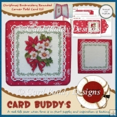 Christmas Embroidery Rounded Corner Fold Card Kit