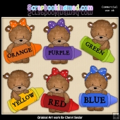 Bailey And Baxter Bears Colours ClipArt Graphic Collection