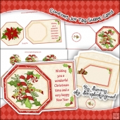 Comfort & Joy Tag Shape Card Download
