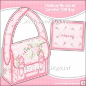 Christmas Holiday Bouquet Satchel Gift Box