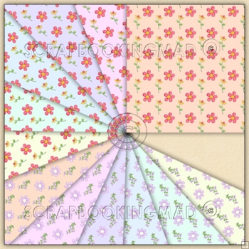 12 Flowers & Petals Backing Paper Download Collection 26