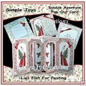 Simple Joys Double Aperture Pop-Out Card