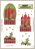 Christmas Candles PDF Decoupage Download