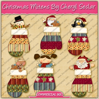 Christmas Mittens Graphic Collection - REF - CS