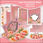 Rosie Glow Birthday Wishes Bow Front Easel Card & Box Kit