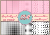 8 PNG Stripes & flower Paper Overlays 12 x 12 Designer Resources