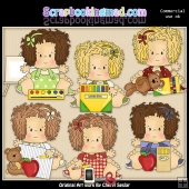 Little Audrey Loves School ClipArt Graphic Collection