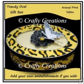 Trendy Oval Gift Box - Yellow