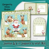 Santa and Co Square Card Kit