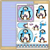 Winter Penguins PDF Decoupage Download