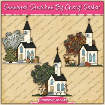 Seasonal Churches Graphic Collection - REF - CS