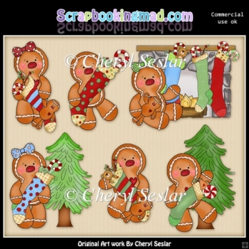 Ginger Friends Rockin Around The Christmas Tree ClipArt