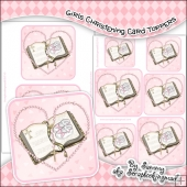 Girls Christening Single Layer Card Toppers