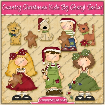Country Christmas Kids Graphic Collection - REF - CS