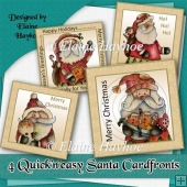 4 Quick n easy Santa Cardfronts
