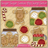 Christmas Ginger Sugar Cookies Graphic Collection - REF - CS