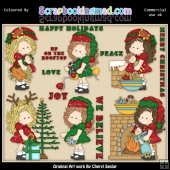 Zoey Christmas Wishes ClipArt Graphic Collection
