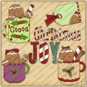 Cocoa Gingers ClipArt Graphic Collection