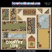 Country Quilt Commercial Use Design Elements