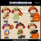 Halloween Annies ClipArt Collection