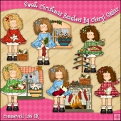 Sweet Christmas Beauties ClipArt Graphic Collection