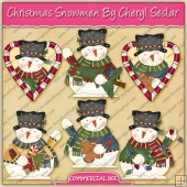 Christmas Snowmen Graphic Collection - REF - CS