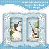 Great White North Double Window Box Card and Envelope