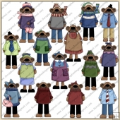 Chunky Bears ClipArt Graphic Collection 1
