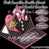 Pink Camellia Double Heart Easel