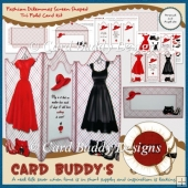 Fashion Dilemmas Screen Shaped Tri Fold Card Kit
