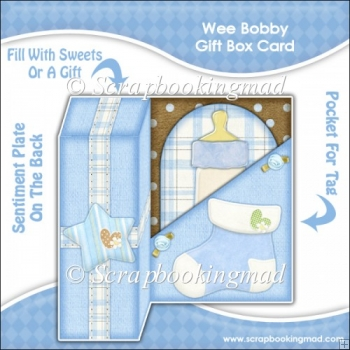 Wee Bobby Gift Box Card