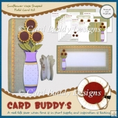 Sunflower Vase Shaped Fold Card Kit