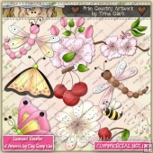 Cherry Fly ClipArt Graphic Collection