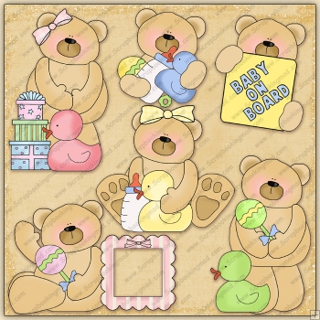 Baby Bears ClipArt Graphic Collection