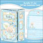Baby Boy Bundle Of Joy Off Set Gatefold Card