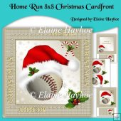 Home Run 8x8 Christmas Cardfront Kit