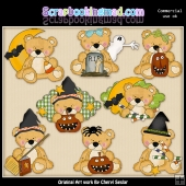 Sweet Stuffins Halloween Bears ClipArt Collection