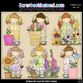 Holly Secret Garden ClipArt Collection