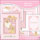 Baby Girl Box Card