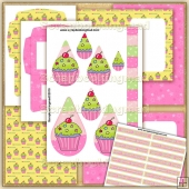 I Love Cupcakes PDF Teardrop Pyramage Download
