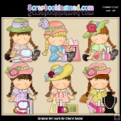 Agnus Loves Makeup ClipArt Collection