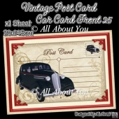 Vintage Post Card Car Card Front 25
