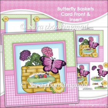 Butterfly Baskets Card Front & Insert