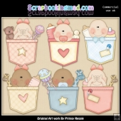 Baby Pockets Clipart Graphics Download