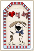 I Love My Pet Dog Tag - REF_T131