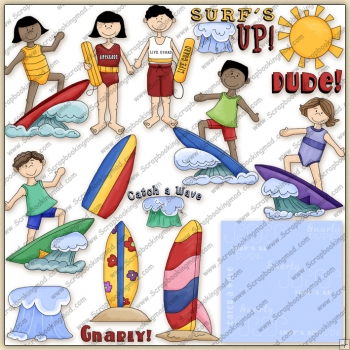Surfs Up ClipArt Graphic Collection