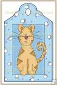 Cute Cat (6) Decorative Tag - REF_T38